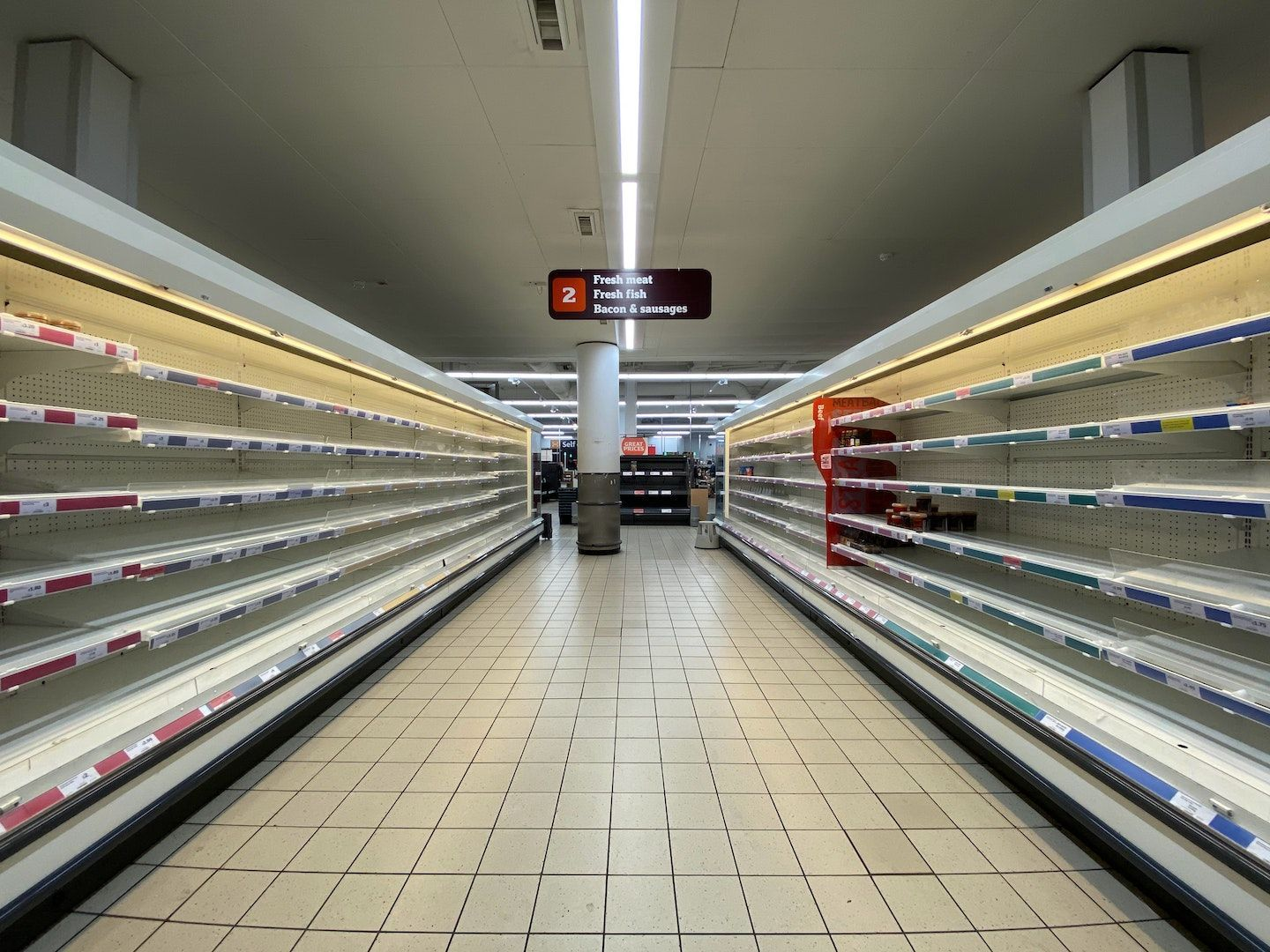 The COVID-19 pandemic left the supermarkets with empty meat shelves